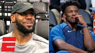 LeBron James: Jimmy Butler trade is good for 76ers and Timberwolves | NBA Interview