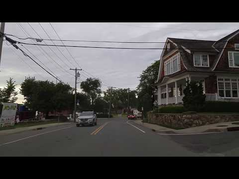 Driving from Manhasset to Port Washington in Nassau,New York