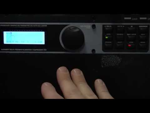 How to set up a DBX Driverack PA audio processor