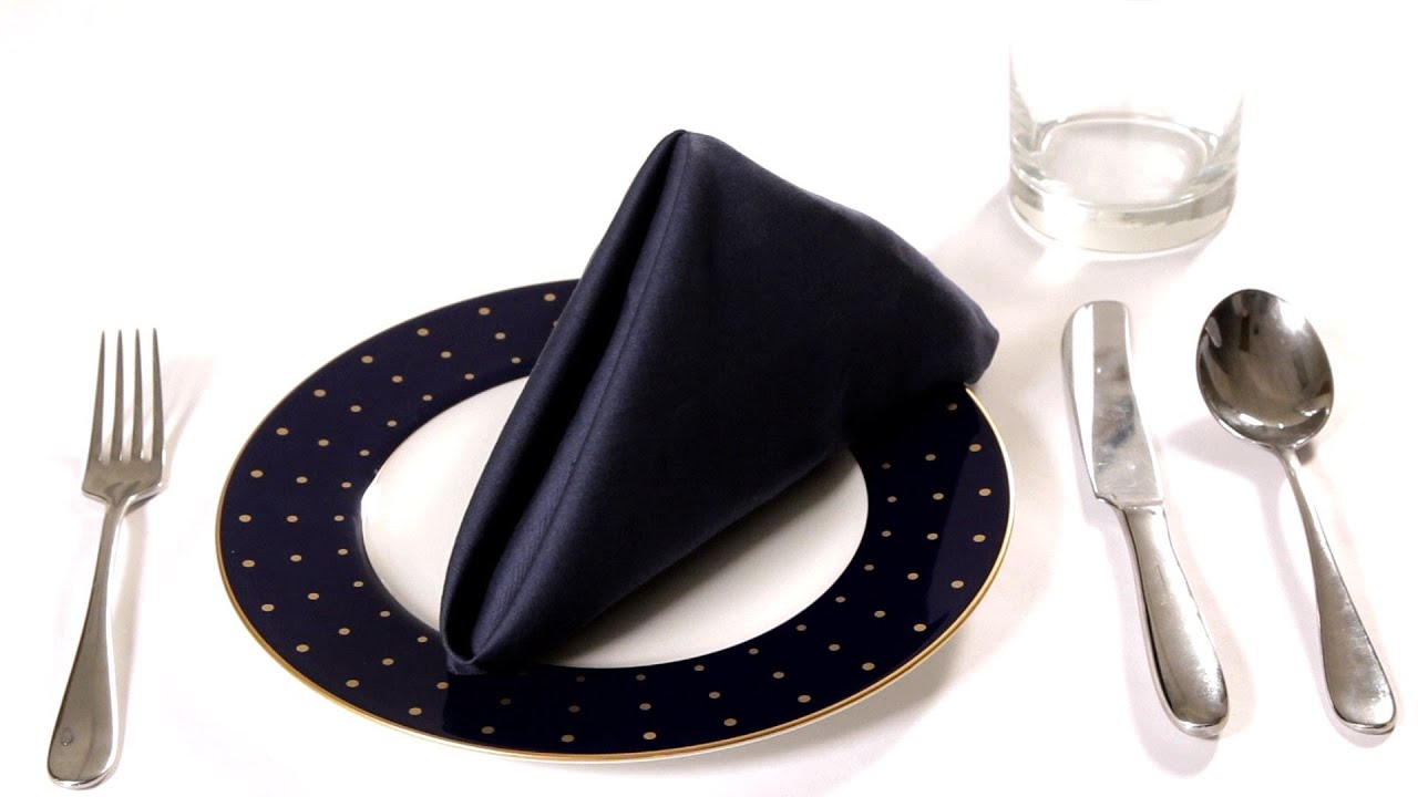 Christmas Table Decorations DIY  How to Fold a Napkin into the Elf ...   720x1280