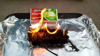 burning a box of 300 matches