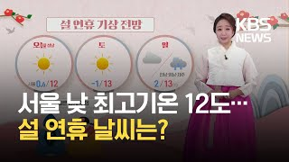 [날씨] 포근한 '설날'…미세먼지↑ / KBS 2021.02.12.