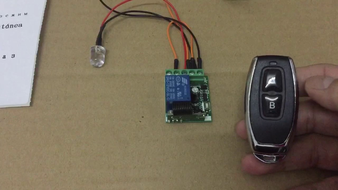 how to use 1 channel dc12v remote control switch with 2 button remote control [ 1280 x 720 Pixel ]