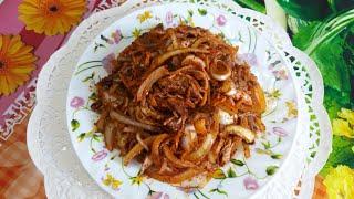 Очень вкусный,острый,быстрый в приготовлении салат из мяса
