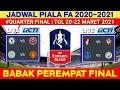 Jadwal Piala Fa Babak Perempat Final | Leicester vs Man united | Fa Cup 2021 QuarterFinal |Live Rcti