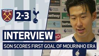 INTERVIEW | HEUNG-MIN SON SCORES FIRST GOAL OF MOURINHO ERA | West Ham 2-3 Spurs