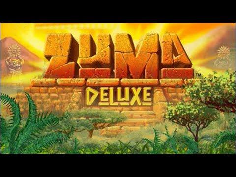 Веселая лягушка Зума в бесплатной игре Zuma Deluxe на компьютер