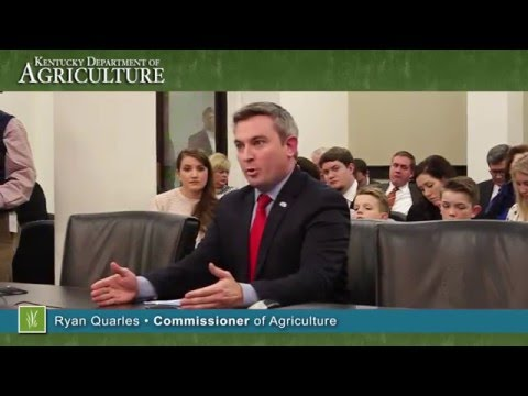 Commissioner Quarles spoke to the Senate Agriculture Committee on commodity prices