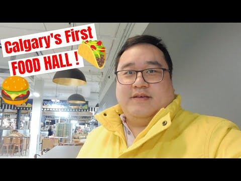 Eating at Calgary's very first Food Hall! (Avenida Food Hall & Fresh Market)