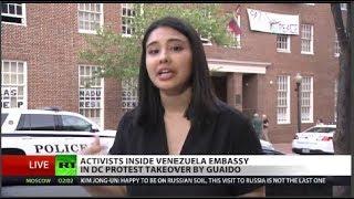 Heavy Secret Service presence at Venezuela DC embassy