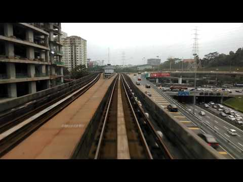 Metro Train travel in Kuala Lumpur, Malaysia