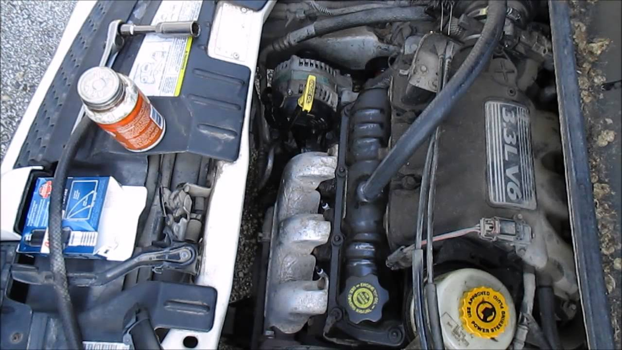How to change spark plugs dodge caravan 3 3l engine part 1 front bank