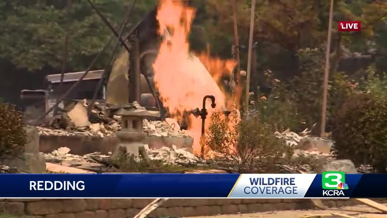 Redding neighborhood devastated by Carr Fire