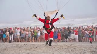 Santa Skydivers: Air Sports Parachute Team @ Cocoa Beach Pier