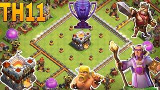 clash of clan - th11 trophy base/ th11 troll base /legend base