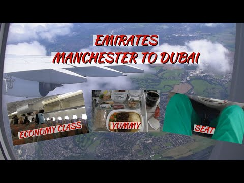 Emirates A380 Economy Class | Manchester ✈ Dubai | Flight Report (HD)