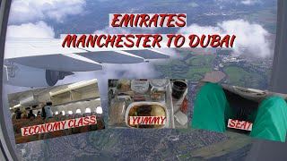 Top 10 Airlines - Emirates A380 Economy Class | Manchester ✈ Dubai | Flight Report (HD)