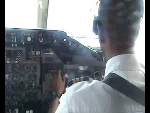 Insel Air day Cockpit view take off Suriname