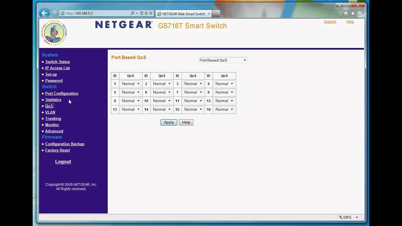 Netgear gs716t smart switch web interface youtube - Net cucine new smart ...