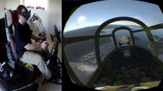 War Thunder in Native Oculus Rift Mode with Max Flight Stick