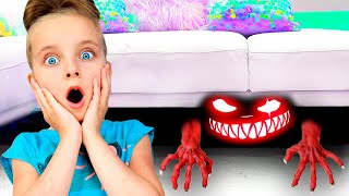 Monster under my bed story | Pretend play with Fursiki show