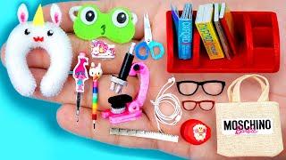17 EASY REALISTIC DIY MINIATURE BARBIE IDEAS ~ Mini Headphone, Microscope , Unicorn pillow and more!