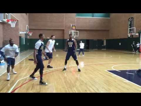 Paul George at his first full practice of 2014-15