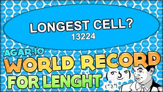 AGARIO WORLD RECORD: LEADERBOARD RECORD FOR LENGTH ( ͡° ͜ʖ ͡°) PHANTASY AGARIO!! (Agar.io #77)
