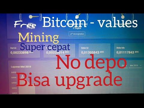 Free Bitcoin - Values. Mining Super Cepat. 0.01 Satoshi/hari.