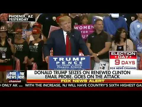 American News: FOX NEWS ALERT 10/30/2016 Revisiting of Clinton Email Investigation