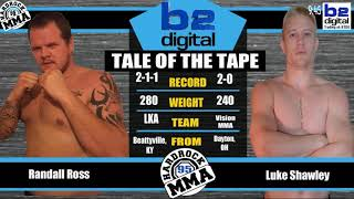 Hardrock MMA 95 Fight 9 Luke Shawley vs Randall Ross Heavyweight Ammy