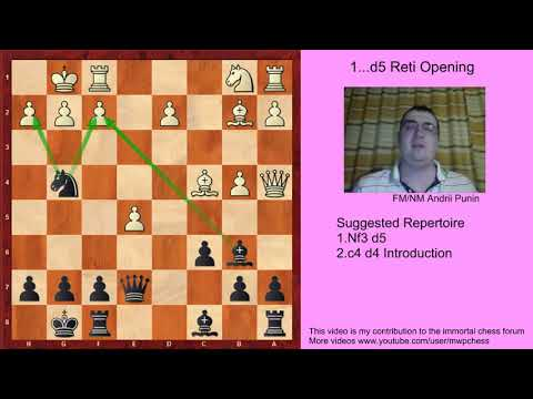 Chess - The 1...d5 Reti Opening (for black) - 2.c4 d4-Introduction