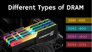 Different Types of DRAM: SDRAM/DDR1/DDR2/DDR3/DDR4/LPDDR/GDDR