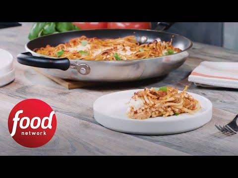 Beefy Cheesy Spaghetti Pie | Food Network