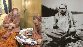 Sri Jayendra saraswathi swamigal explaining to Sri Vijayendra saraswathi swamigal his Pictures taken