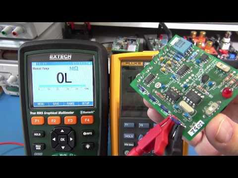 Extech GX900 vs Fluke 287 Graphical Multimeter Review - Pt1