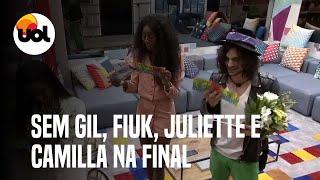 BBB21: Gil é eliminado; Juliette, Fiuk e Camilla estão na final do reality