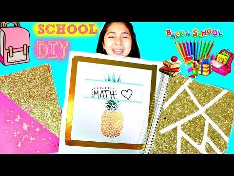 4 SCHOOL DIY'S Notebooks & Binders Easy Back to School DIY B2cutecupcakes