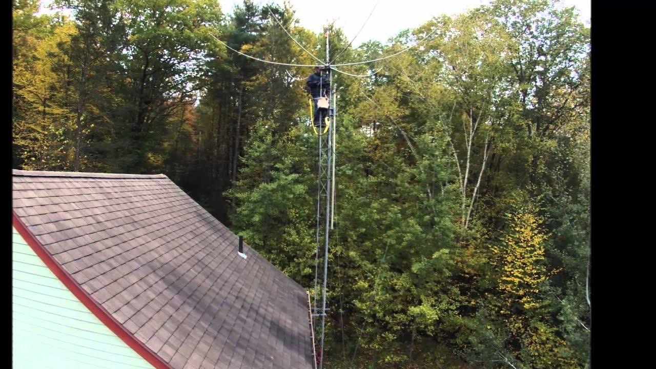 Erecting A Ham Radio Tower And Antenna Youtube