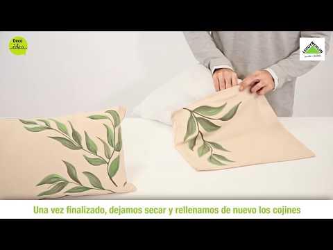 Pinta y personaliza tus cojines leroy merlin youtube - Relleno cojines leroy merlin ...