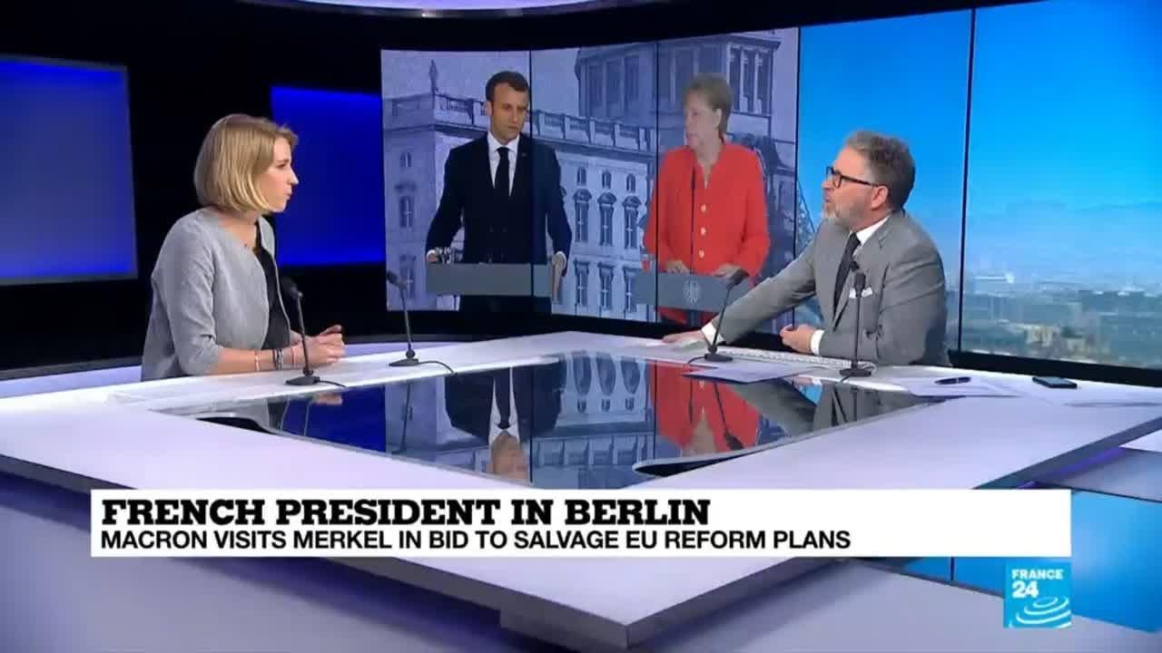 فرانس 24:Merkel and Macron: Can they compromise to push EU reform forward?
