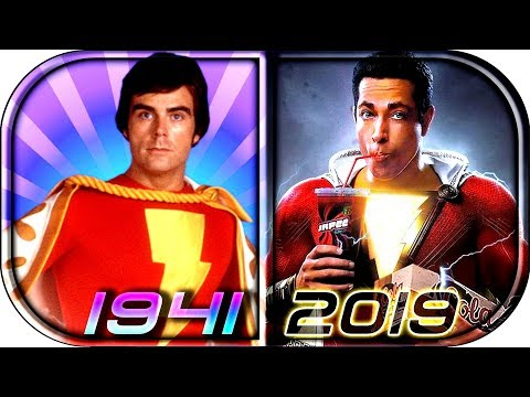 EVOLUTION of SHAZAM / Captain Marvel in Movies Cartoons TV (1941-2019) SHAZAM! full movie scene 2019