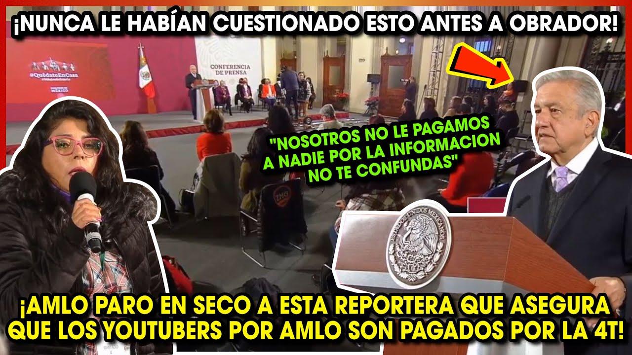 ASI AMLO PARÓ EN SECO A ESTA REPORTERA POR DECIR QUE LOS YOUTUBERS PRO AMLO SON PAGADOS POR LA 4T
