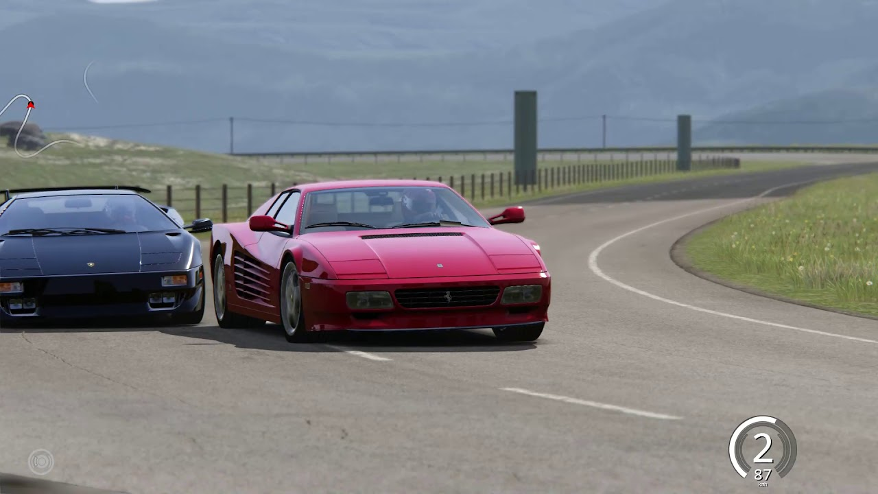 Ferrari Testarossa vs Lamborghini Diablo VT