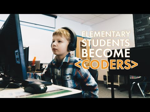 Elementary Students Become Coders at The Montessori Academy