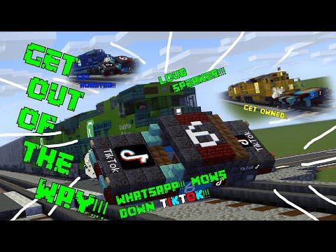 WhatsApp Train Vs. TikTok Car Minecraft Animation
