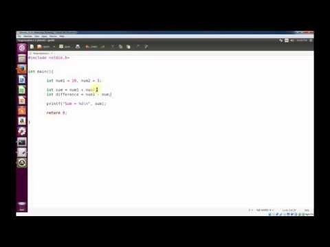 Programming C in Linux -  Simple Math Expressions with Integers (int)