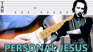 Como Tocar Personal Jesus Version Marilyn Manson IDENTICA A LA GRABACION