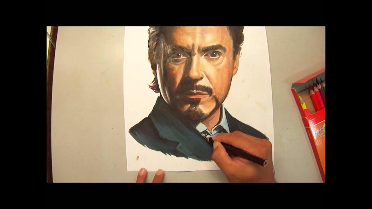 tony stark how to draw