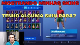 SHOWING MY SKINS DE MY FORTNITE ACCOUNT-DO I HAVE A RARE SKIN?